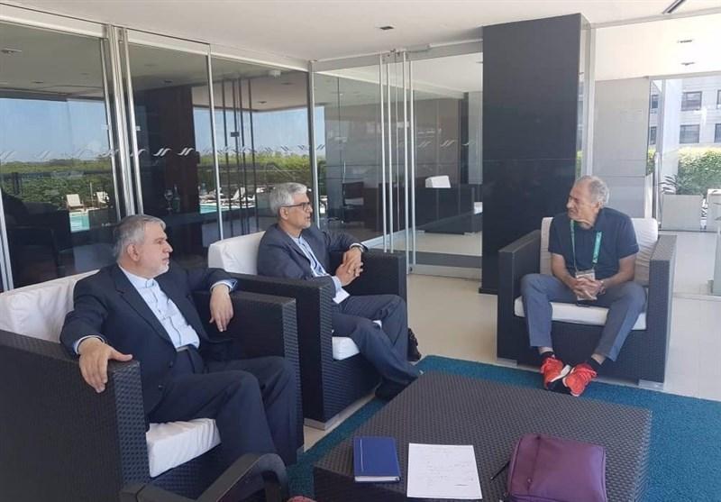 المپیک جوانان 2018، دیدار صالحی امیری با رئیس فدراسیون جهانی هندبال