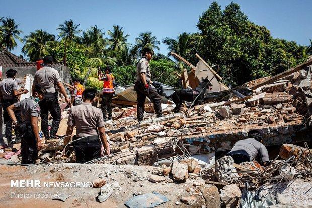 تلفات زلزله اندونزی به 460 نفر افزایش یافت، حال 959 زخمی وخیم است