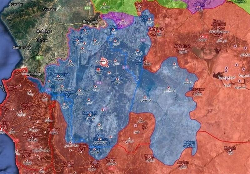 حضور بیش از 35 هزار تروریست در ادلب، حملات هوایی سوریه و روسیه به النصره