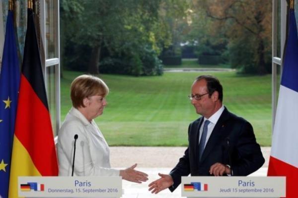 مرکل و اولاند خواهان تسریع در تحقق اهداف اروپا شدند