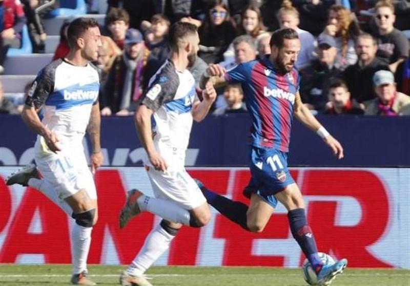 لالیگا، پیروزی آلاوس در خانه لوانته با گلزنی بازیکن پیشین بارسلونا