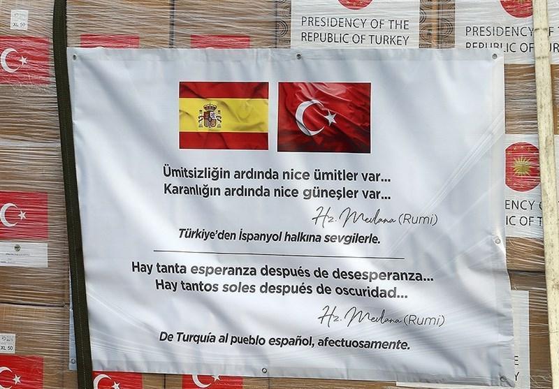 ارسال یاری های پزشکی ترکیه به اسپانیا و ایتالیا