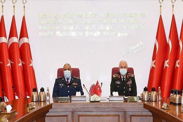 رؤسای ستادکل ارتش ترکیه و قطر ملاقات کردند