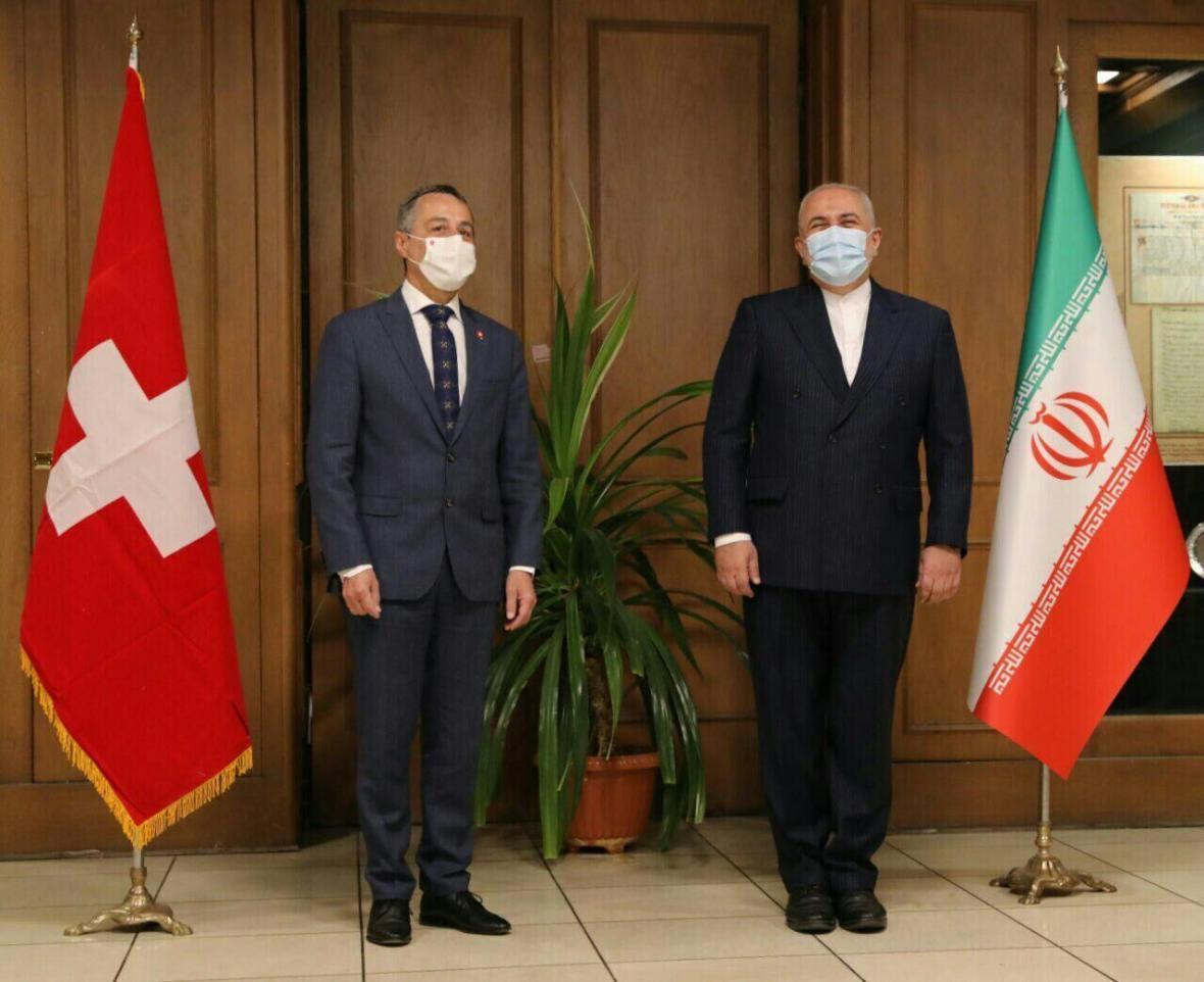 خبرنگاران وزیر خارجه سوئیس با ظریف دیدار کرد