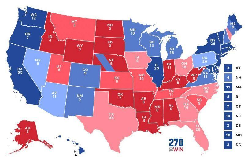 خبرنگاران نتایج اولیه انتخابات آمریکا، پیروزی ترامپ در چهار ایالت