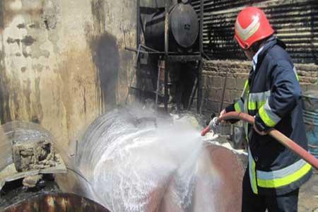 آتش در پمپ بنزین یک مصدوم داشت ، حریق مهار شد