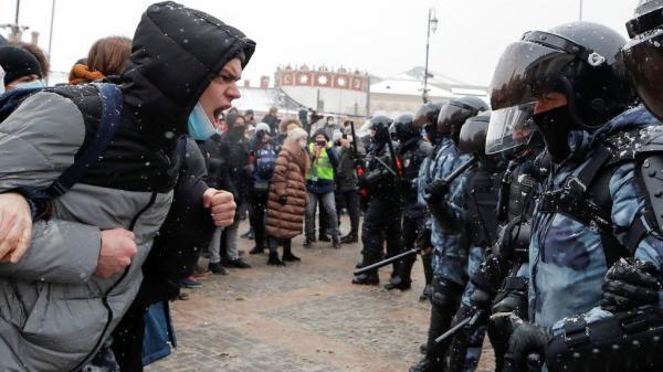 تظاهرات ضد پوتین در روسیه، دستگیری 5 هزار معترض (