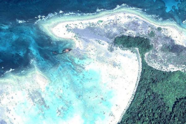 جزیره از آب برخاسته در سواحل آمریکا