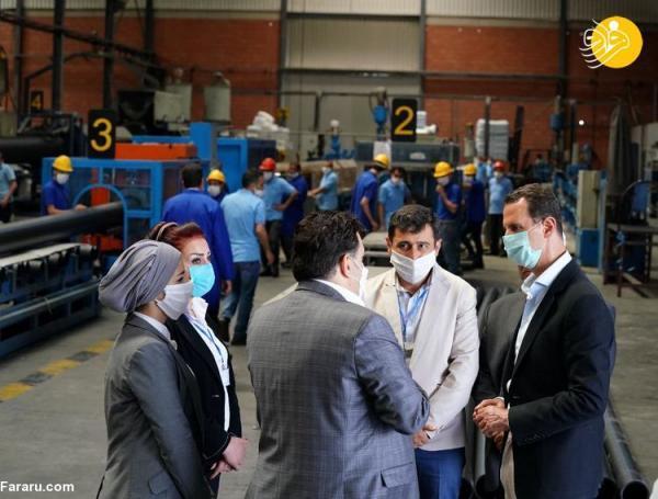 (تصاویر) بازدید بشار اسد از یک شهرک صنعتی