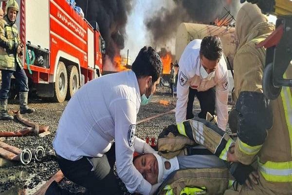 آتش سوزی پالایشگاه تهران 11 مصدوم داشت